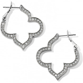 Brighton Pave Hoop Earrings - Silver