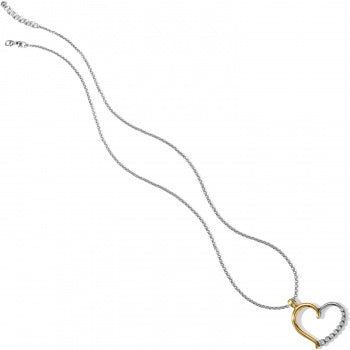 Brighton Sparkle Heart Necklace - Silver/Gold