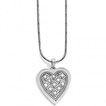 Brighton Love Cage Necklace - Silver