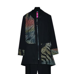 IC Collection Colorblock Zip Front Jacket - Multicolor