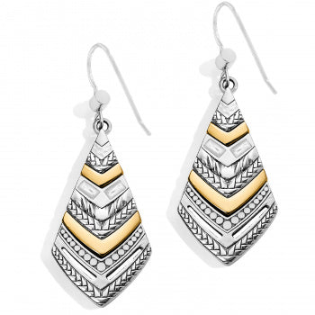 Brighton Tapestry Kite French Wire Earrings - Silver/Gold