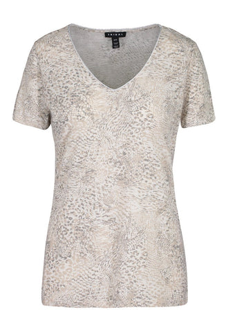 Tribal Short Sleeve Top - Animal Print