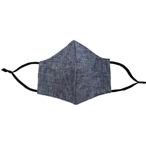 4-Layer Cotton Fashion Mask - Chambray Blue