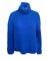 525 America Turtleneck Shaker Knit Sweater- Royal Blue