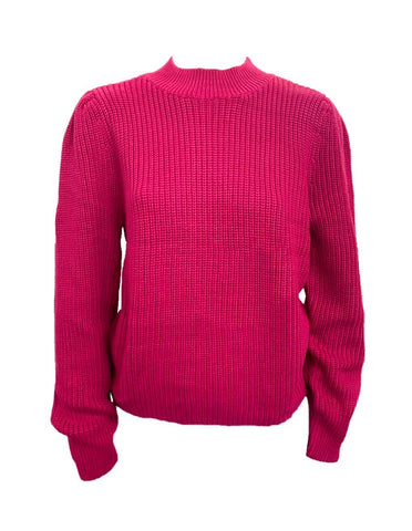 525 America Cotton Shaker Knit Sweater - Berry