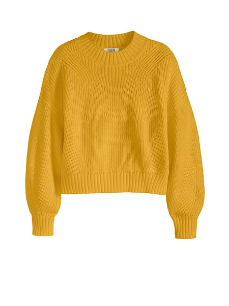 525 America Mia Cotton Cropped Sweater - Mango