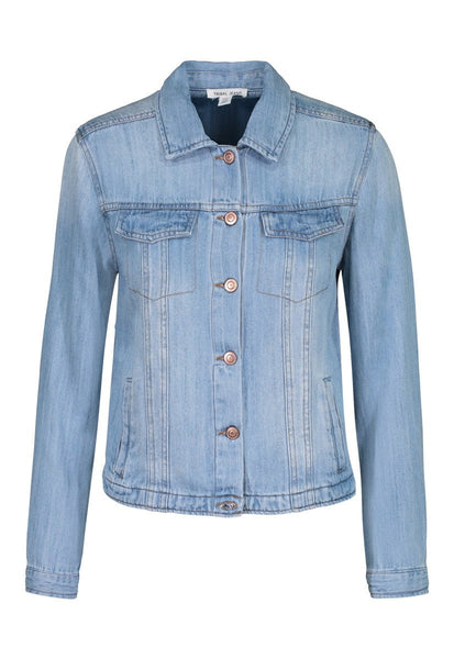 Tribal Button Front Jean Jacket - Chambray