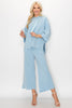 Image of JOH Apparel Francine Pearl Trim Hoodie Top - Sky Blue