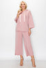 Image of JOH Apparel Francine Pearl Trim Hoodie Top - Pink