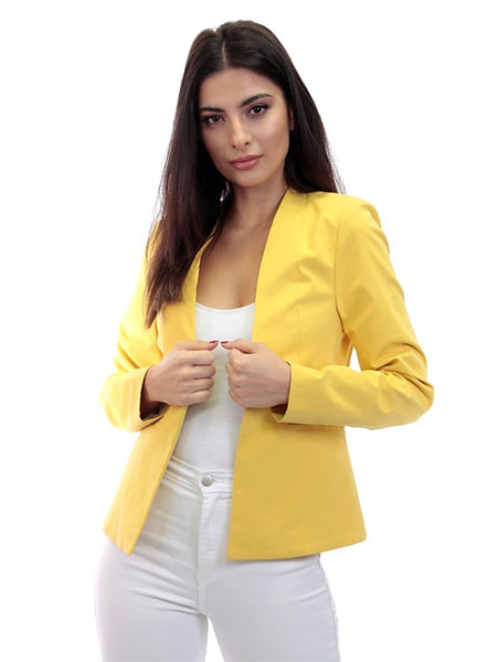 Dolce Cabo Tailored Jacket - Yellow
