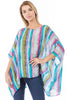Image of APNY Apparel Watercolor Stripe Kaftan Top - Multicolor