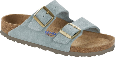 Birkenstock Arizona Soft Footbed Light Blue Suede