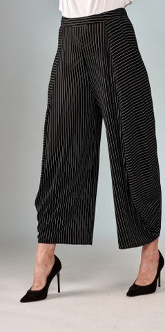 Insight New York Pinstripe Gaucho Pant - Black/White