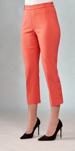 Insight New York Ringlet Detail Stretch Techno Crop Pant - Sorbet