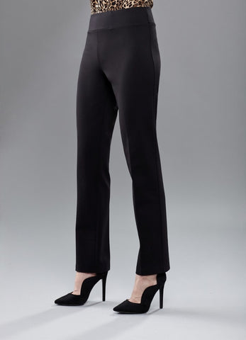 Insight New York Silky Knit Straight Leg Pant - Black
