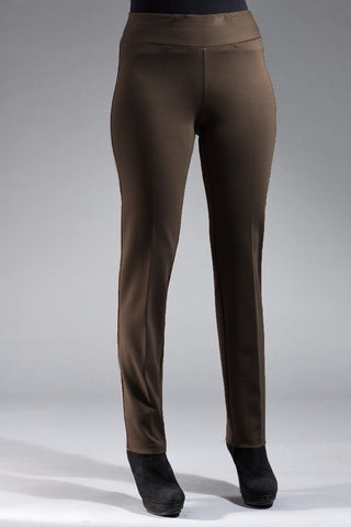 Insight New York Silky Knit Straight Leg Pant - Dark Olive