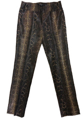Insight New York Silky Knit Straight Leg Pant - Python/Cheetah Print