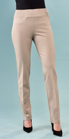 Insight New York Silky Knit Straight Leg Knit Pant - Light Taupe