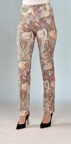 Insight New York Silky Knit Straight Leg Pant - Multi Paisley