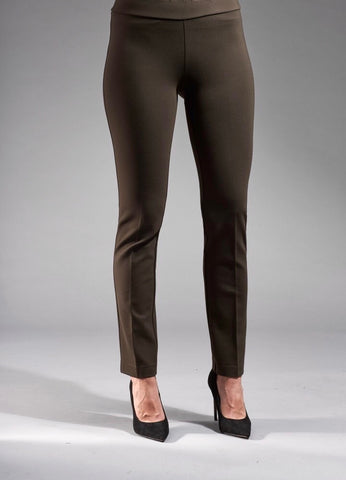 Insight New York Silky Knit Skinny Leg Pant - Chocolate