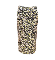 Insight New York Neon Leopard Print Midi Skirt - Beige/Multicolor
