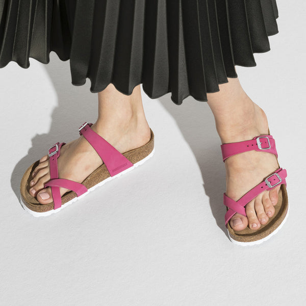 Birkenstock Mayari Soft Footbed Fuschia Nubuck Leather