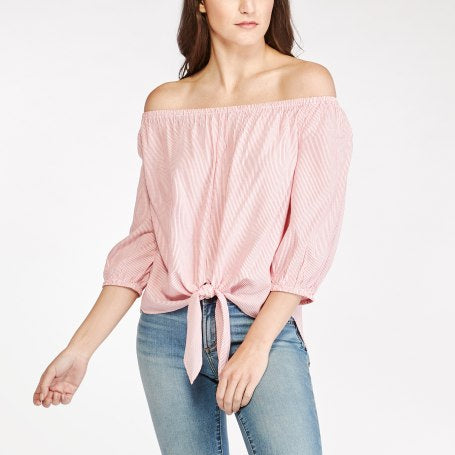 BeachLunchLounge Lucia Tie Front Top - Beaujolais