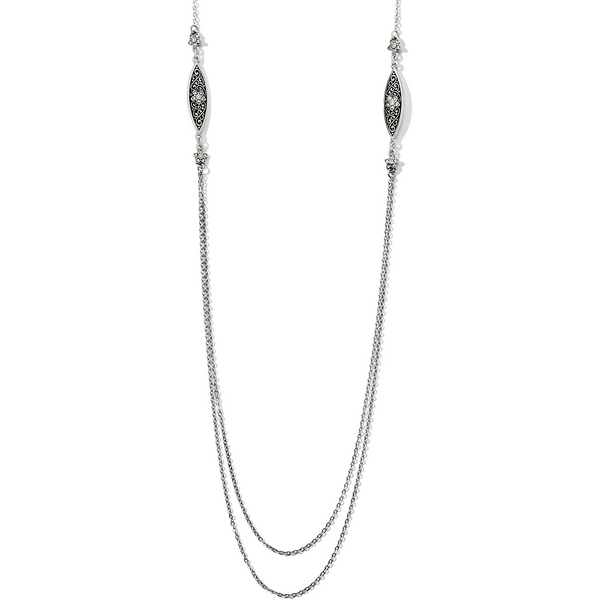 Brighton Collectibles Baroness Fiori Long Necklace - Silver