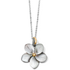 Image of Brighton Collectibles Neptune's Rings Shell Flower Necklace - Silver-Black