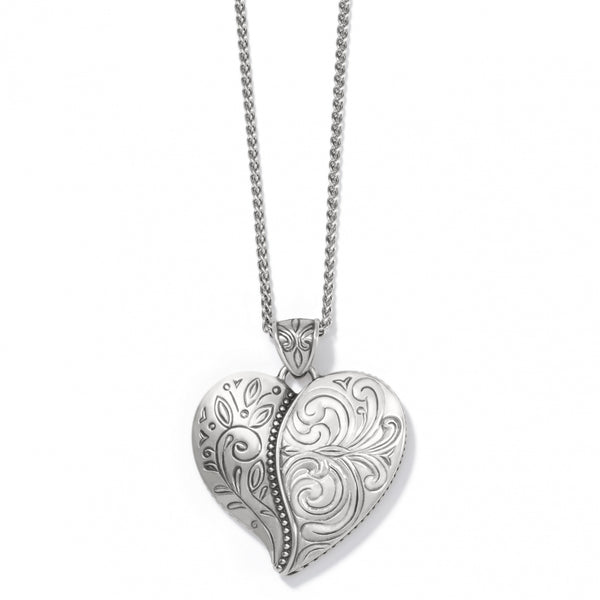 Brighton Collectibles Convertible Ornate Heart Necklace - Silver