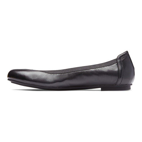Vionic Caroll Ballet Flat - Black Nappa Leather