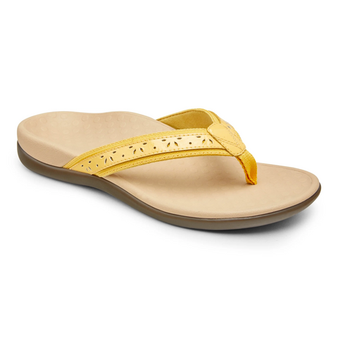 Vionic Casandra Toe Post Sandal - Buttercup Yellow