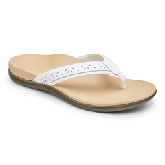 Vionic Casandra Toe Post Sandal - White