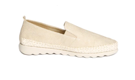 The FLEXX Chappie Espadrille - Gold Leather