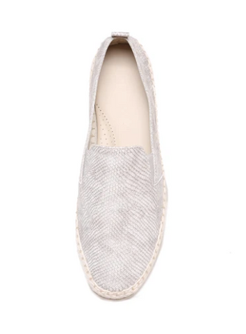 The FLEXX Chappie Espadrille - Silver Leather