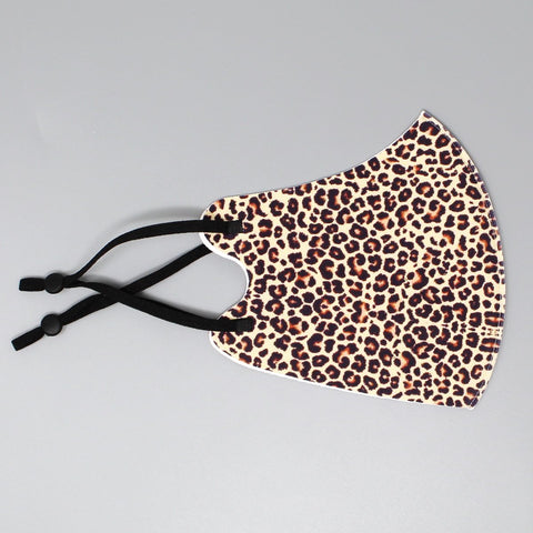 Single Layer Fashion Mask - Cheetah Print