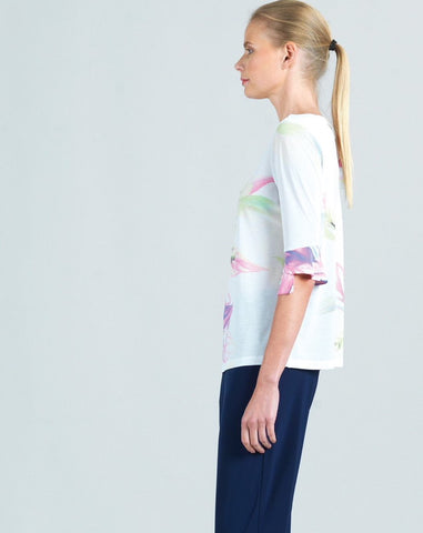 Clara Sunwoo Floral Back Tie Top - Multicolor