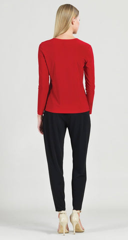 Clara Sunwoo Cascade Drape Top - Red