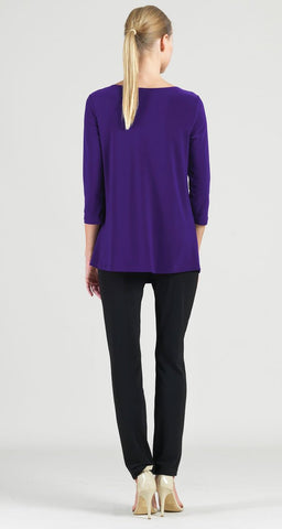 Clara Sunwoo Twist Front Tunic - Purple