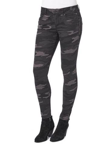 "Democracy Stretch ""Ab""solution Side Zip Detail Jegging - Charcoal Camouflage"