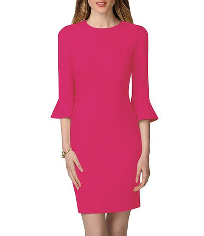 Donna Morgan Bell Sleeve Sheath Dress - Magenta