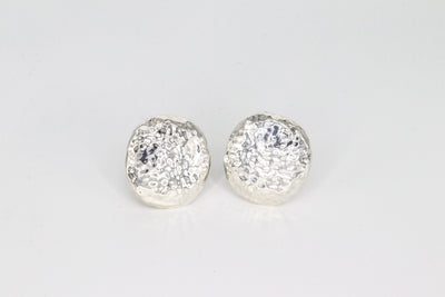 Simon Sebbag Designs - Hammered Sterling Silver Coin Clip Earring