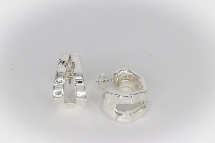 Simon Sebbag Designs - Sterling Silver Hammered Cuff-Shaped Earring