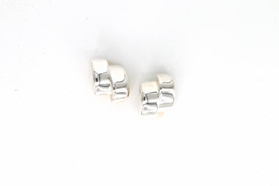 Simon Sebbag Designs - Sterling Silver Offset Block Clip-On Earring