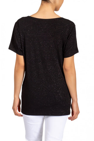 Berek Short Sleeve Glitter Glam Tee - Black