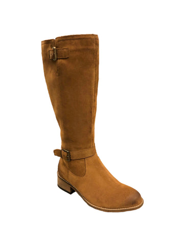 Earth Shoes Tall Suede Boot - Tan
