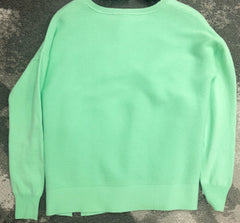 Elliott Lauren Cotton Cashmere Sweater - Mint