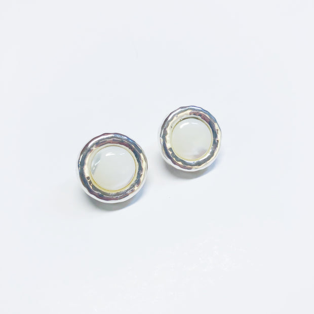 Simon Sebbag Designs - Mother of Pearl & Sterling Silver Halo Earring