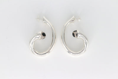 Simon Sebbag Designs - Sterling Silver Loop Earring with Tortoise Agate Stone
