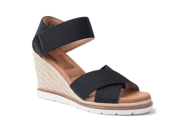 Me Too Gia Espadrille Wedge Sandal - Black